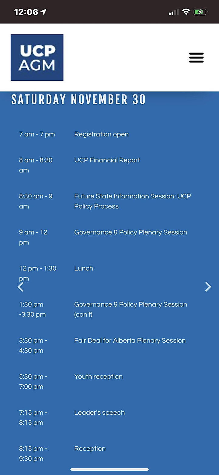 Rally Protest UCP's AGM Annual General Meeting Social/Jobs/Education/Health image