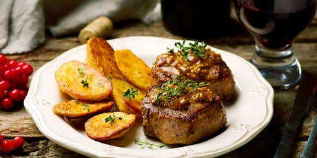 Holiday Prep: Beef Tenderloin with Madeira Sauce & Crispy Rosemary Potatoes tickets