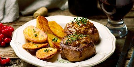 Holiday Prep: Beef Tenderloin with Madeira Sauce & Crispy Rosemary Potatoes tickets