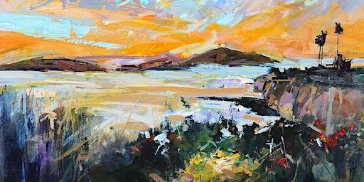 Painting Spyglass Park Sunrise @ Art Central