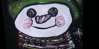 Snowman Canvas Sip & Paint