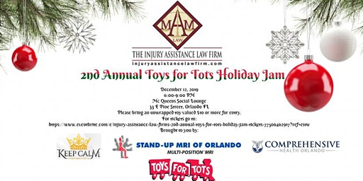 Injury Assistance Law Firm's 2nd Annual Toys for Tots Holiday Jam