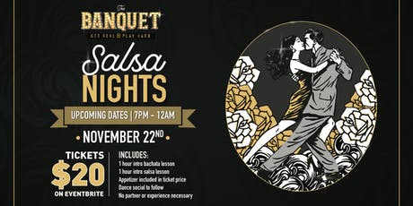 The Banquet Salsa Night tickets