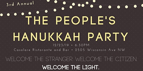 3rd Annual People's Hanukkah Party at Casolare tickets
