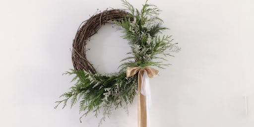 West Elm Holiday Wreathe with Olive and Blooms