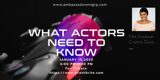 What Actors Need to Know