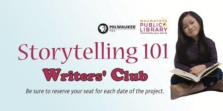 Storytelling 101 Writers' Club tickets
