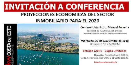 CONFERENCIA: PROYECCIONES ECONÓMICAS DEL SECTOR INMOBILIARIO PARA EL 2020