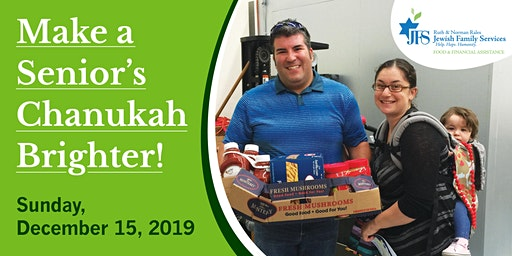 JFS Presents - Make a Senior's Chanukah Brighter - Delivery Opportunity