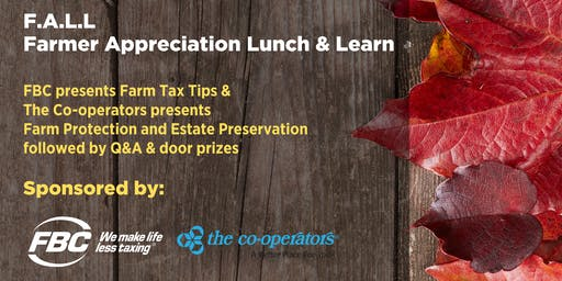 FALL - Farmers Appreciation Lunch & Learn