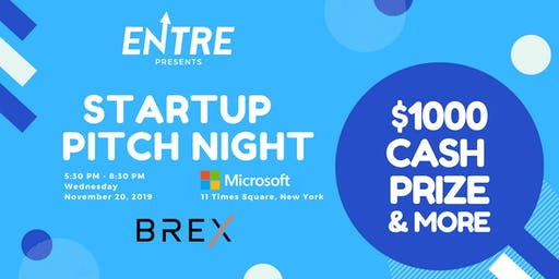 Startup Pitch Night - $1000 Cash Prize