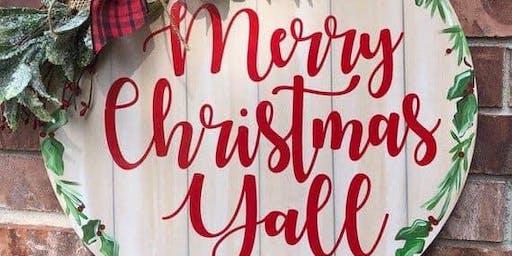Holiday Custom Sign Painting with Sara Stauffer