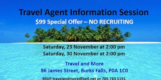 Travel Agent Information Session
