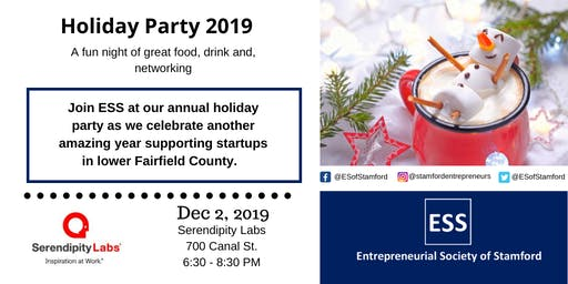 Annual Holiday Party 2019 hosted by the Entrepreneurial Society of Stamford