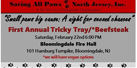 """First Annual Beefsteak: Saving All Paws North Jersey """"Small paws big Cause"""" tickets"""