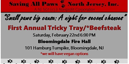 """First Annual Beefsteak: Saving All Paws North Jersey """"Small paws big Cause"""""""