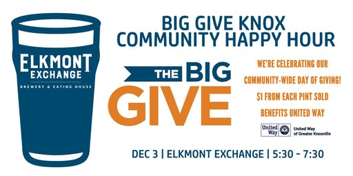The Big Give Knox Community Happy Hour