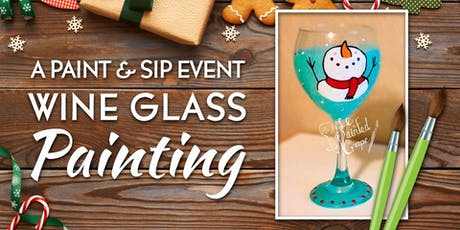 New Class! Join us for our Wine Glass Painting Party Workshop at The Loft Wine Bar & Restaurant on 12/14 @ 1pm  tickets