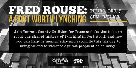 Fred Rouse: A Fort Worth Lynching tickets