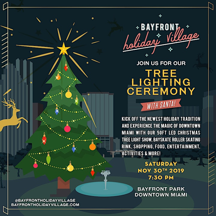 Christmas Tree Lighting Ceremony at Bayfront Holiday Village image