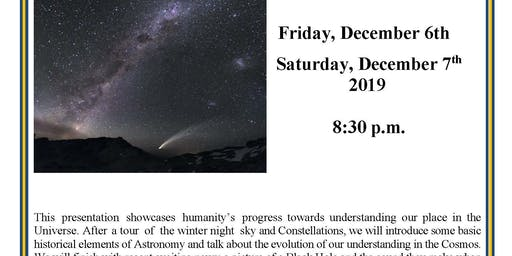 """Planetarium Show """"Our Place in the Cosmos"""""""