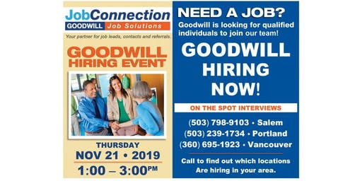Goodwill is Hiring - South Salem - 11/21/19