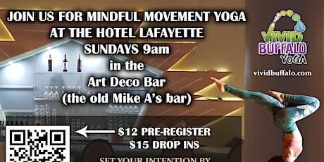 Sunday Yoga @ Hotel Lafayette tickets
