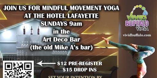 Sunday Yoga @ Hotel Lafayette