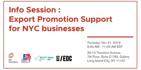Small Business Export Support for NYC Businesses tickets