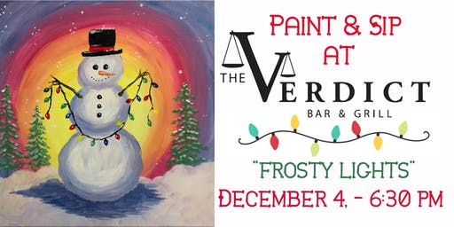 "Paint & Sip ""Frosty Lights"" at The Verdict Bar & Grill"
