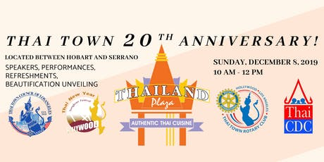 Thai Town 20th Anniversary Commemoration tickets
