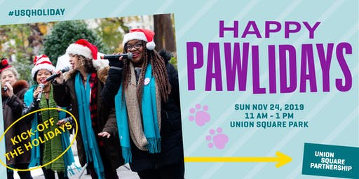 Happy Pawlidays in Union Square Park