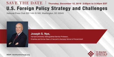 Panel featuring Joseph Nye: U.S. Foreign Policy Strategy and Challenges tickets