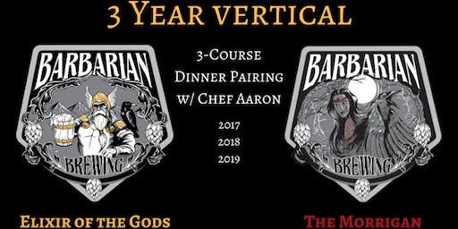 Morrigan & Elixir 3 Year Vertical Pairing Dinner