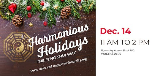Harmonious Holidays the Feng Shui Way