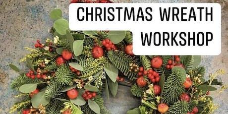 Christmas Wreath Workshop evening class tickets