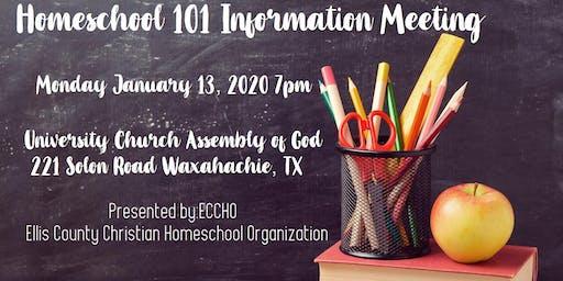 Homeschool 101 Information Meeting