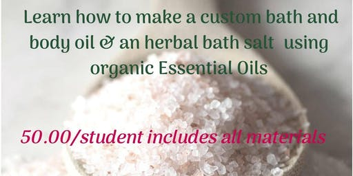 Herbal Products Holiday gift-making class