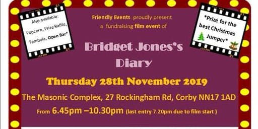 The film 'Bridget Jones's Diary' is proudly presented by Friendly Events