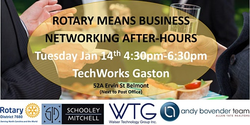 Rotary Means Business (District #7680) Network After-Hours Jan 14th