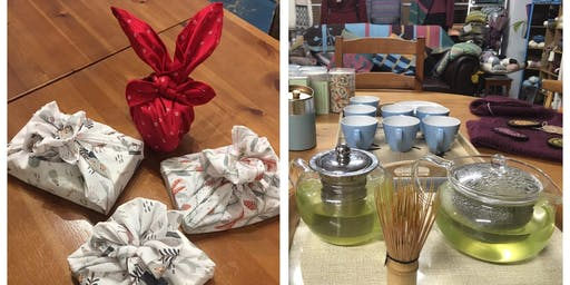 Japanese Furoshiki - Wrap an Eco Gift-Wrapping Cloth + green tea tasting