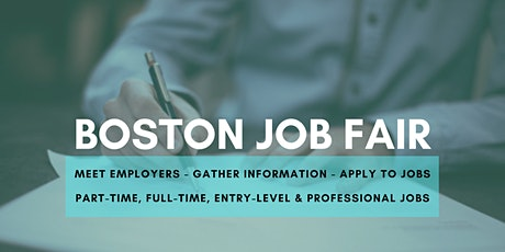 Boston Job Fair - August 10, 2020 - Career Fair tickets