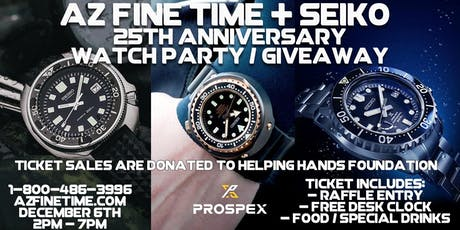 Seiko 25th Anniversary Watch Party In Store Giveaway Free Food tickets