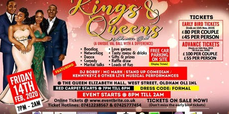 KINGS AND QUEENS VALENTINE BALL tickets