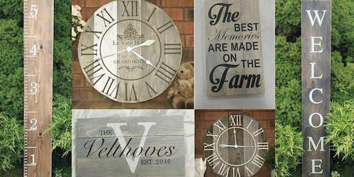Paint A Sign Or Clock DIY
