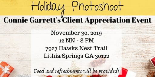 Holiday Photoshoot - Client Appreciation Event by Connie Garrett