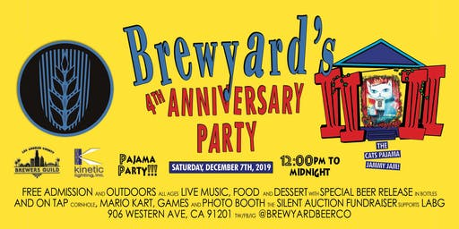 Brewyard's 4th Anniversary Free Outdoor Festival
