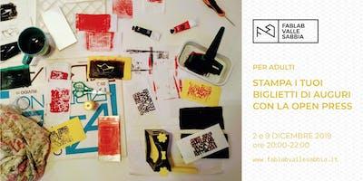 Stampa i tuoi biglietti di auguri con la Open Press
