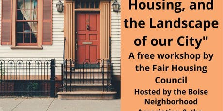 Hate, Housing, and the Landscape of our City tickets