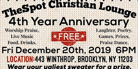 TheSpot Christian Lounge 4th Year Anniversary tickets